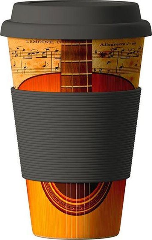 Стакан BambooCup Гитара, экологичный, 400 мл кружка дорожная areon bamboocup 280 470