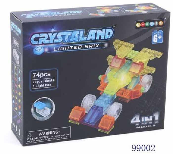 Crystaland Конструктор Гоночный автомобиль 4 в 1 конструктор автомобиль маруся avtoys