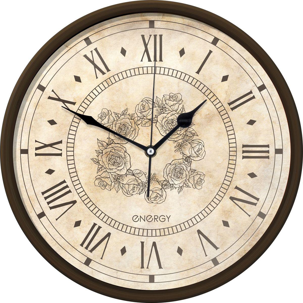 Energy ЕС-106 настенные часыЕС-106Настенные кварцевые часы с плавным ходом Energy ЕС-106 имеют оригинальный яркий дизайн и поэтому подойдут для вашего дома или офиса, декорированного в подобном стиле. Крупные цифры коричневого цвета отлично различимы даже в условиях плохого освещения. Питание осуществляется от 1 батарейки типа АА (в комплект не входит). Размер 32 см х 4,5 см Рекомендуем!