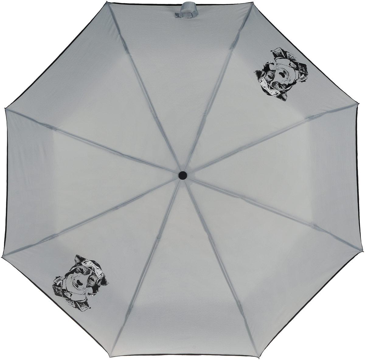 Зонт женский ArtRain, механический, 3 сложения. 3517-1735 зонт artrain механический 3 сложения цвет синий 3517 1732