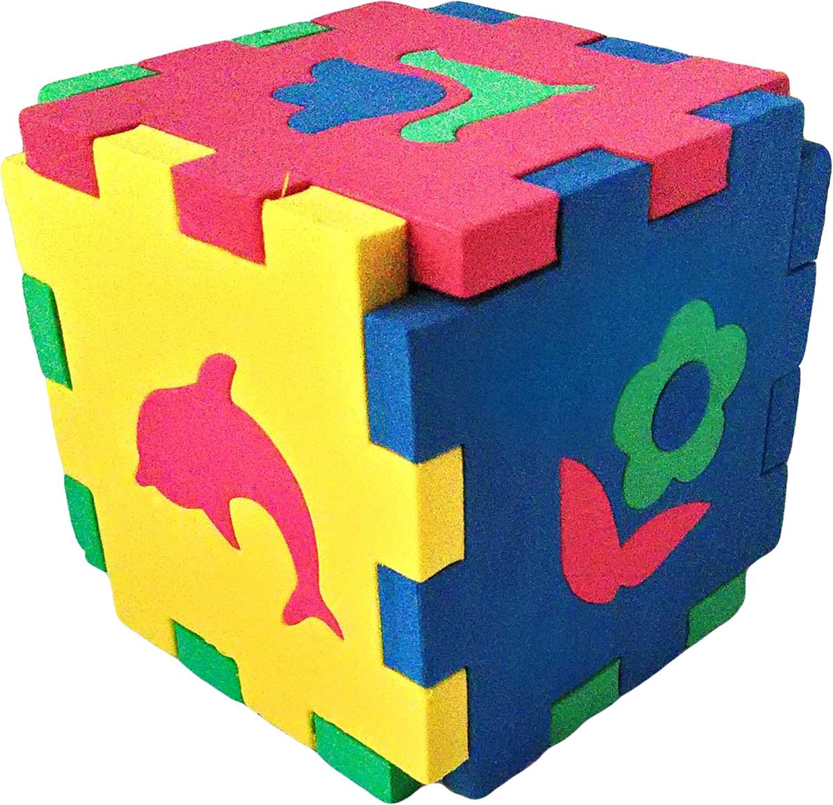 Бомик Пазл для малышей Кубик Мозаика Силуэты цены