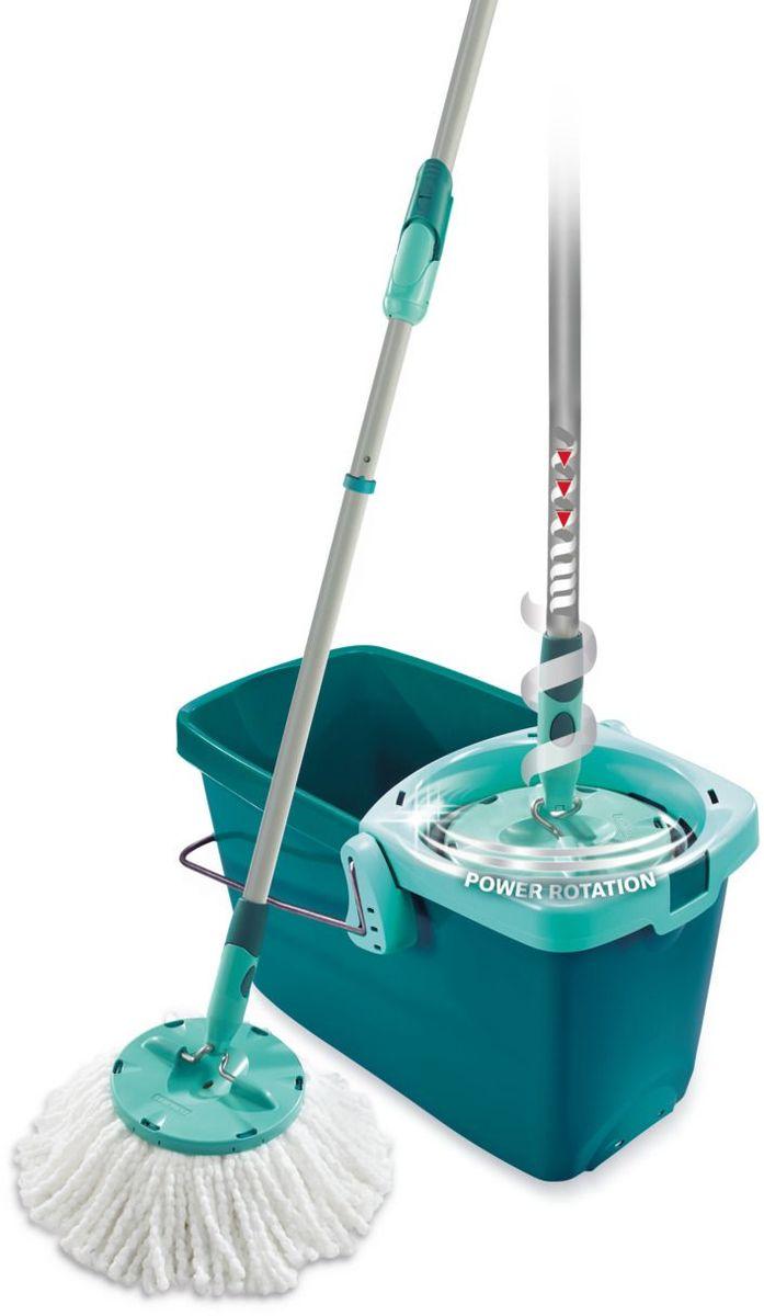 Комплект для уборки Leifheit Clean Twist Mop, цвет: бирюзовый, 2 предмета. 52019 насадка на швабру leifheit clean twist mop из микроволокна цвет белый бирюзовый