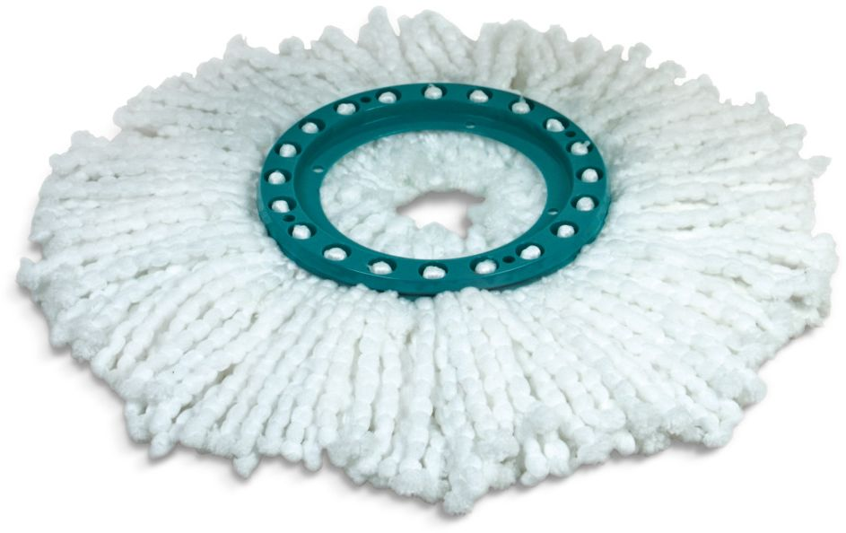 Насадка на швабру Leifheit Clean Twist Mop, из микроволокна, цвет: белый, бирюзовый насадка на швабру leifheit clean twist mop из микроволокна цвет белый бирюзовый
