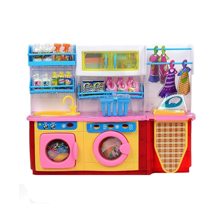 DollyToy Мебель для кукол Мини-кухня Прачечная sima land мебель для кукол кухня 452179