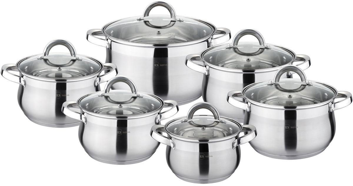 Набор посуды Rainstahl, цвет: стальной, 12 предметов. 1217-12RS\CW набор посуды rainstahl 8 предметов 0716bh