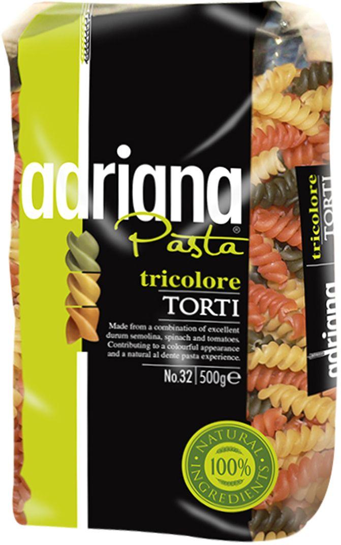 Adriana Pasta tricolore torti паста, 500 г102211011190000Под TM «ADRIANA» создали полезные макаронные изделия , Паста TRICOLORE . Они могут быть использованы как составляющая итальянского салата с макаронами, в качестве гарнира и как самостоятельное блюдо. Паста ТМ ADRIANA линии TRICOLORE не только очень вкусная, но еще и полезная! При производстве данных макаронных изделий используется специально подготовленные шпинат, томат и фильтрованная вода.