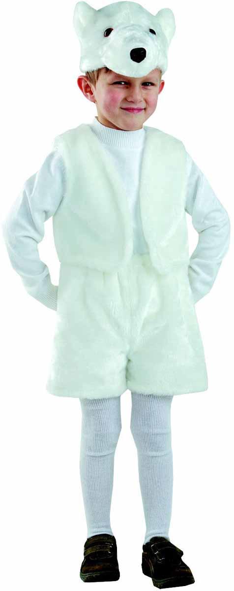Батик Карнавальный костюм для мальчика Белый медведь размер 28 батик костюм карнавальный для мальчика король цвет красный белый размер 30