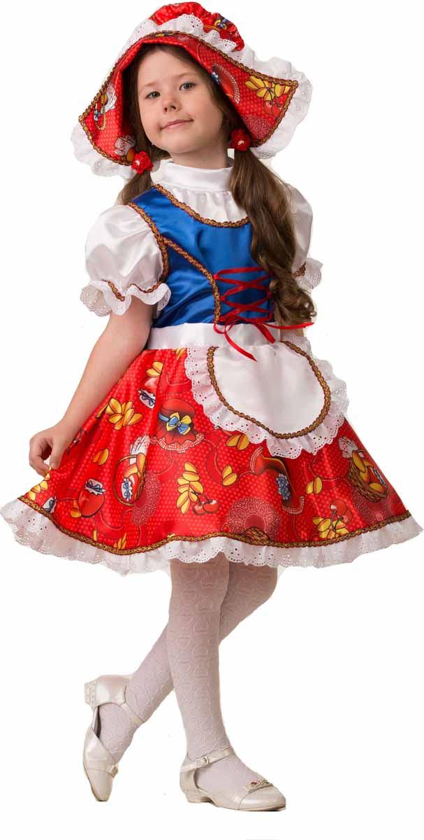 Дженис Карнавальный костюм для девочки Красная шапочка размер 32 дженис карнавальный костюм для девочки бабочка размер 28
