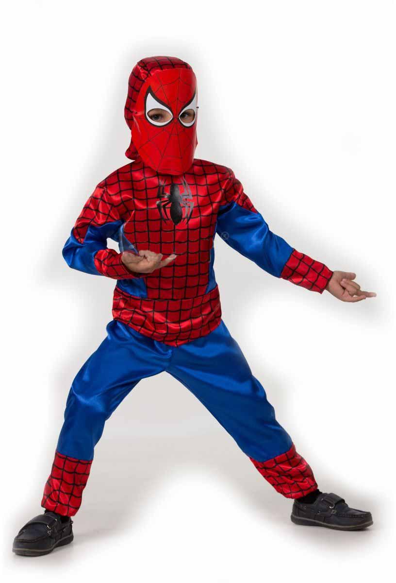 Батик Костюм карнавальный для мальчика Человек-Паук размер 32