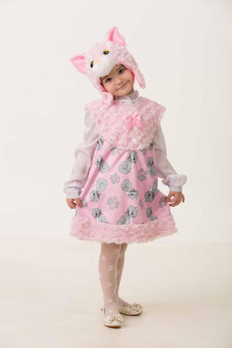 Дженис Карнавальный костюм для девочки Кошечка Муся размер 28 карнавальный костюм jeanees зайка капризка цвет голубой размер 24