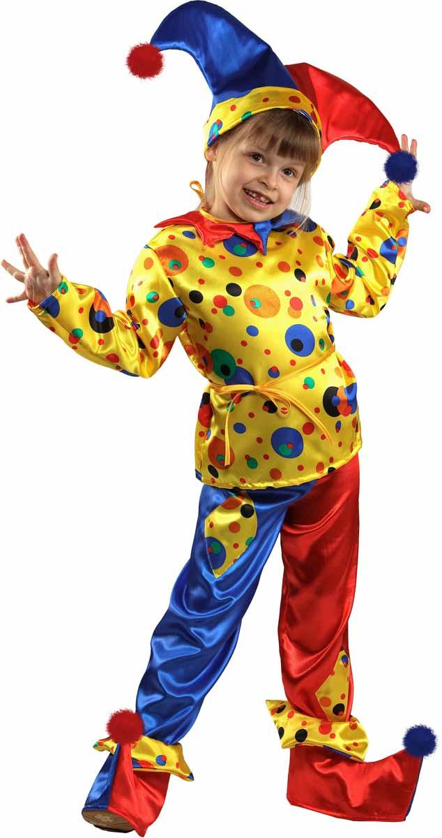 Батик Костюм карнавальный для мальчика Петрушка размер 28