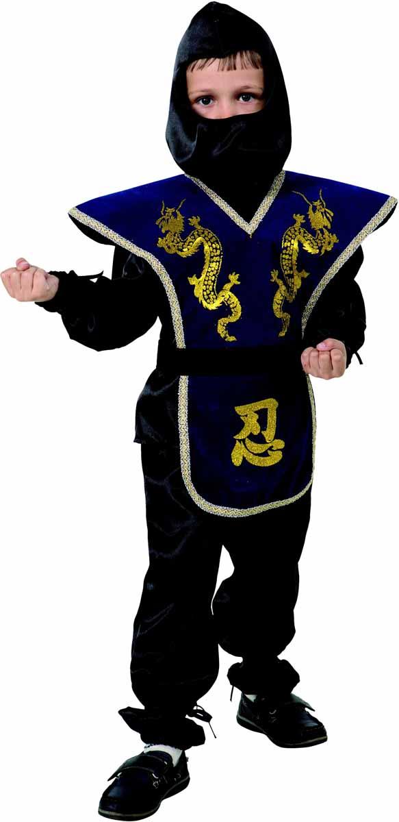 Батик Костюм карнавальный для мальчика Ниндзя размер 34