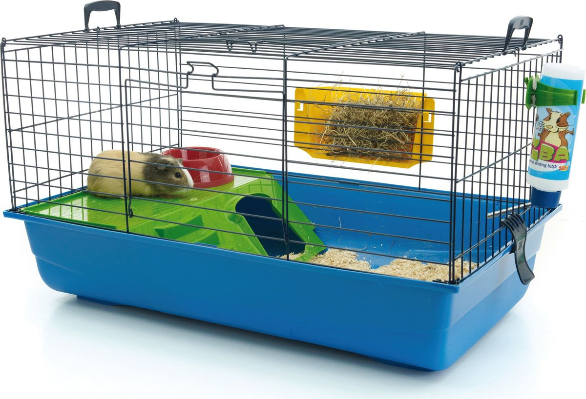 Клетка для грызунов Savic Nero De Luxe, цвет: синий, 80 х 50 х 44 см клетка для грызунов savic zeno 80 х 50 х 70 см