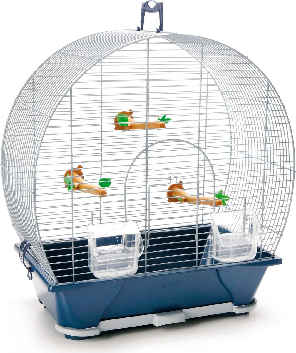 Клетка для птиц Savic Evelyne, цвет: серебристый, голубой, 42 х 25 х 47 см цена