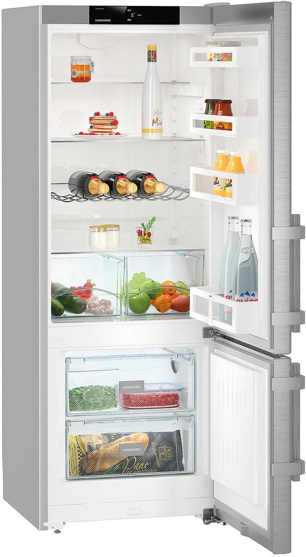 Двухкамерный холодильник Liebherr CUef 2915-20001, серебристый Liebherr