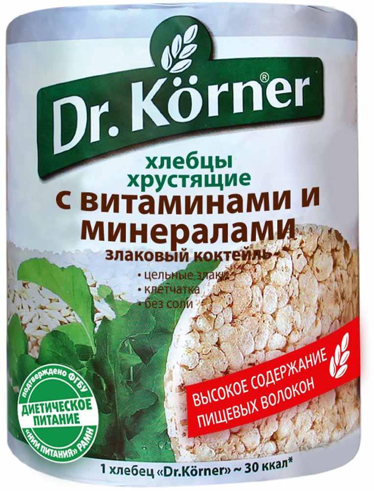 Dr. Korner Злаковый коктейль с витаминами и минералами хлебцы, 100 г dr oetker пикантфикс для грибов 100 г