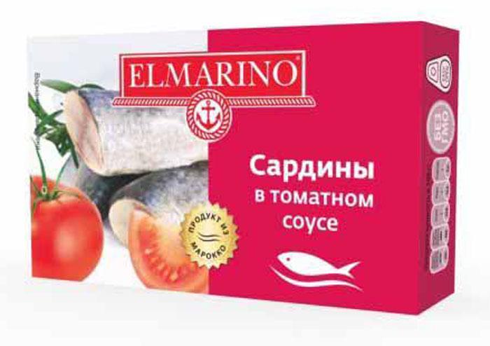 ElmarinoСардины в томатном соусе, 125 г Elmarino