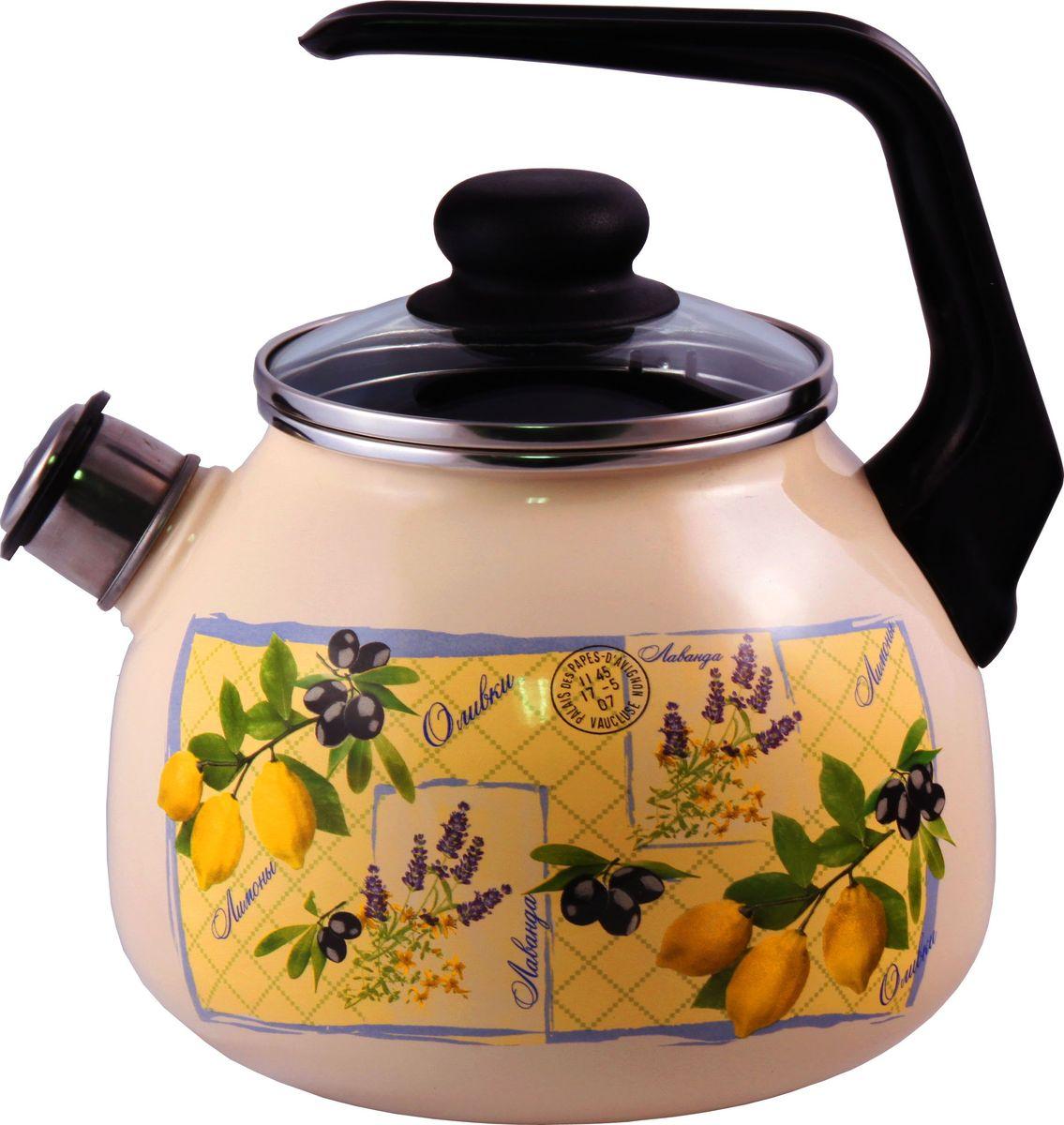 """Чайник Appetite """"Citrus"""", со свистком, 3 л. 4с209я"""