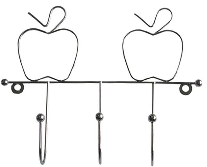 Планка кухонная Мультидом Яблоко, с 3 крючками, длина 19 см штопор мультидом an57 2