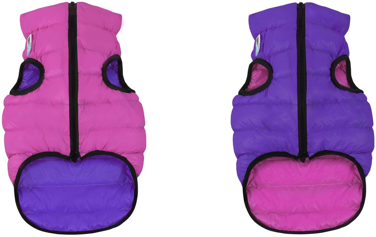 Куртка для собак AiryVest, двухсторонняя, унисекс, цвет: розовый, фиолетовый. Размер XS (25)