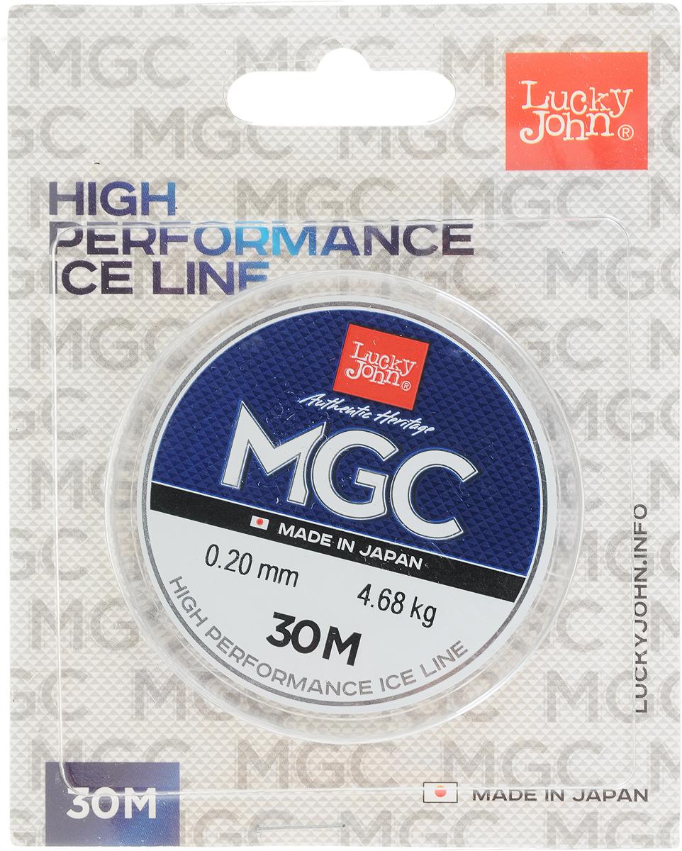 Леска зимняя Lucky John MGC, монофильная, 30 м, 0,20 мм, 4,68 кг
