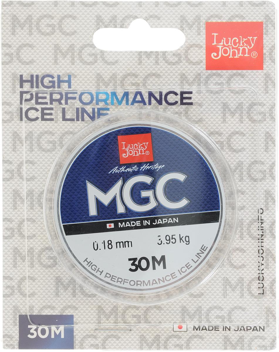 Леска зимняя Lucky John MGC, монофильная, 30 м, 0,18 мм, 3,95 кг