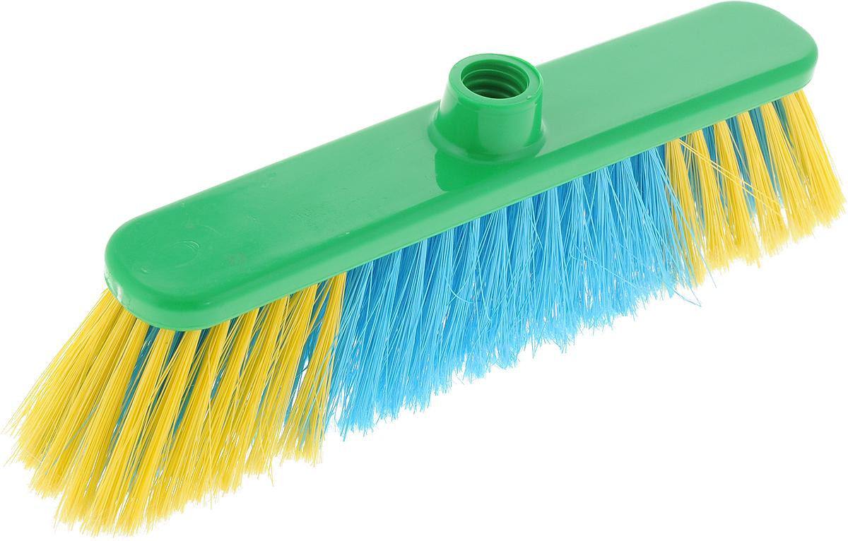 Щетка для пола Хозяюшка Мила Азалия, цвет: зеленый, желтый, голубой щетка для пола техническая бук plastic republic 50см sv3121нк