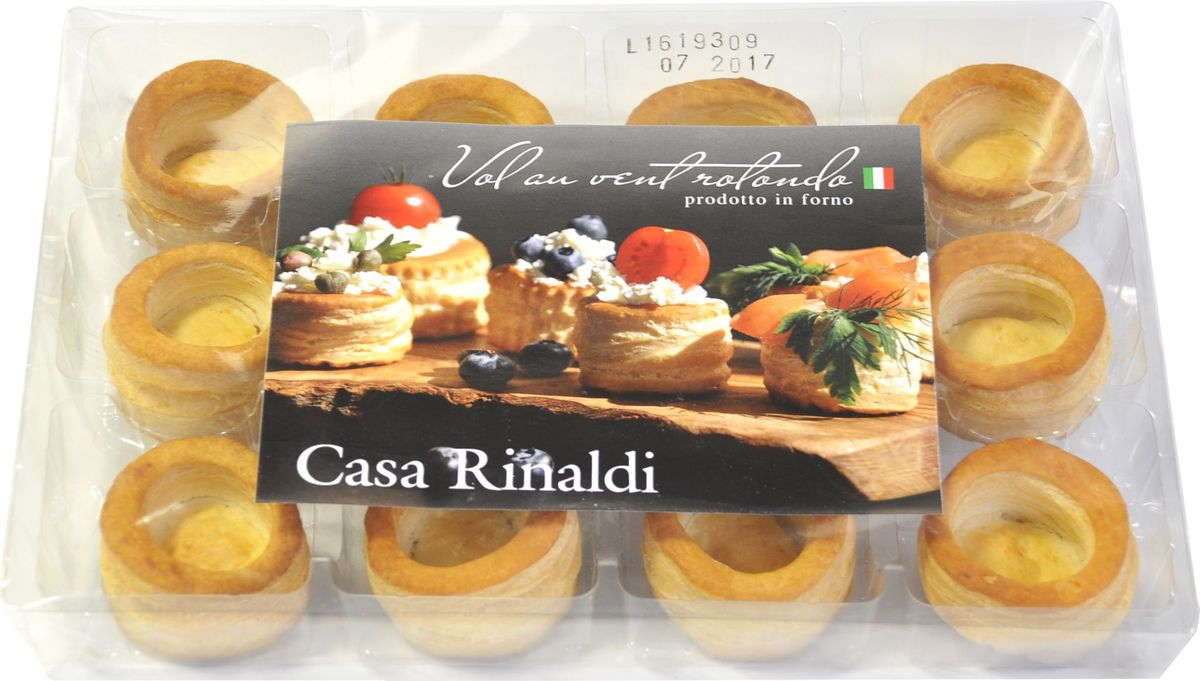 Casa Rinaldi Тарталетки круглые диаметр 50мм, 180 г