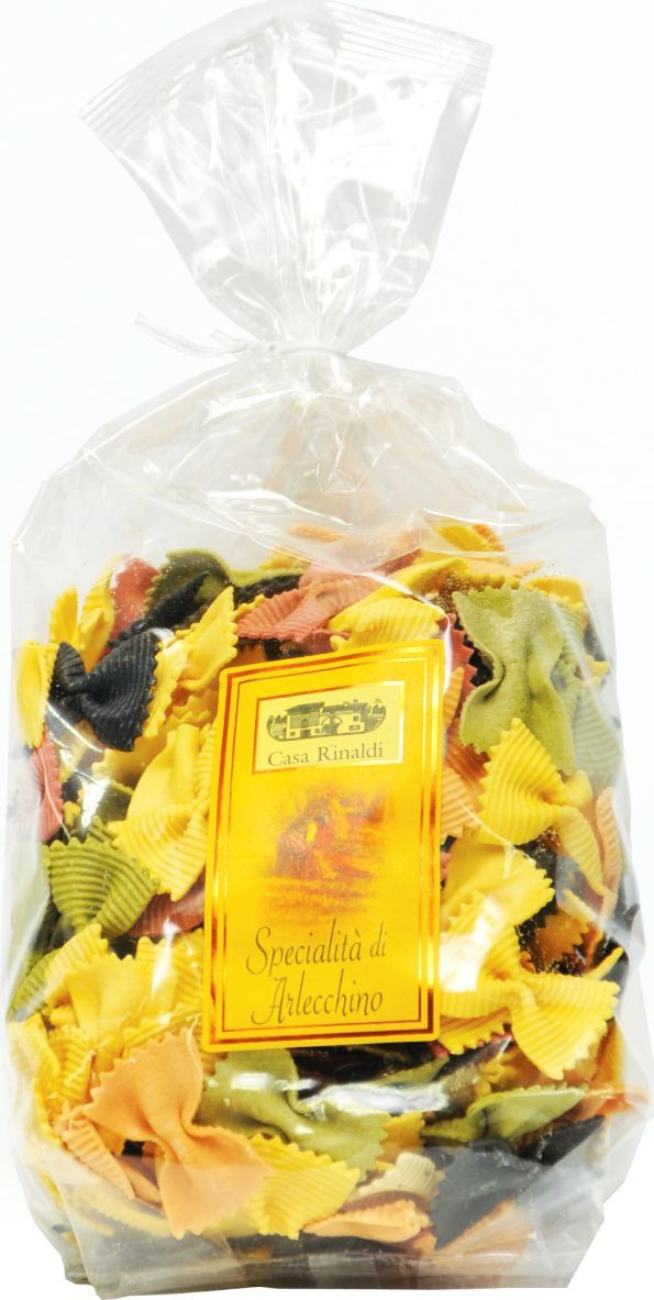 Casa Rinaldi Паста цветная Фарфалле Арлекино (бантики), 500 г