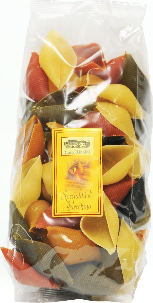 Casa Rinaldi Паста цветная Конкильони Арлекино ракушки, 500 г
