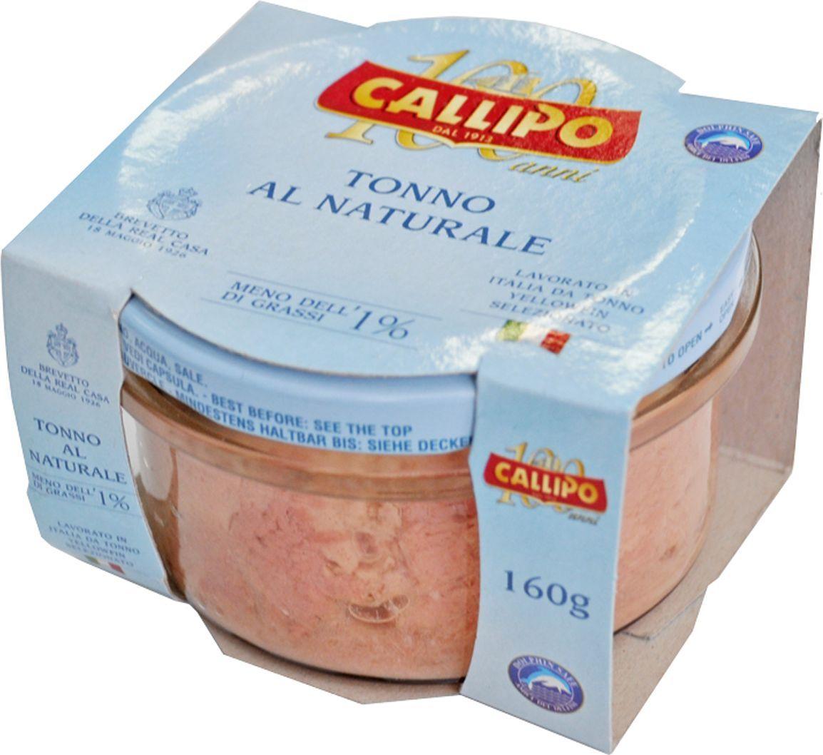 CallipoТунец Иелоуфин кусочки в собственном соку, 160 г Callipo