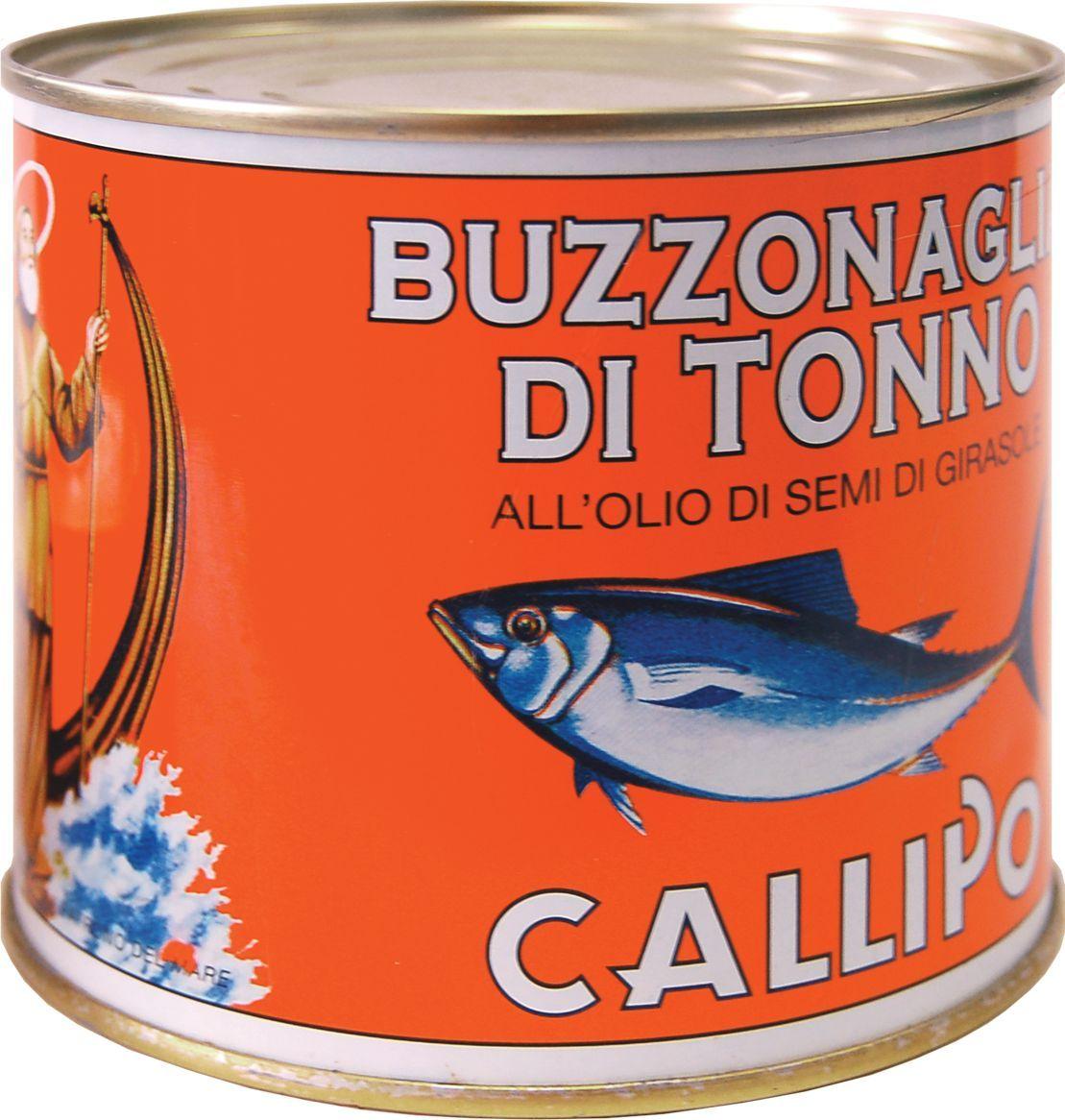Callipo Тунец Буззональя в подсолнечном масле, 620 г
