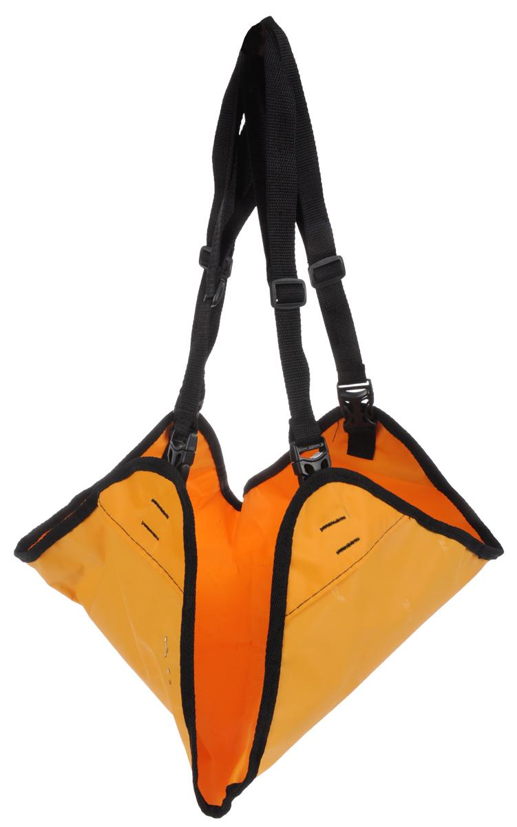 Гамак Заря-Плюс, для выставочных клеток и палаток, цвет: оранжевый, черный, 48 х 54 см гамак семейный family