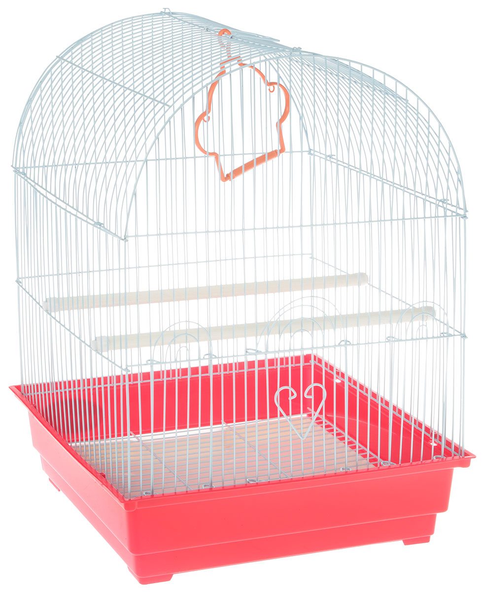 "Клетка для птиц ""Triol"", цвет: красный, 35 х 28 х 46 см"