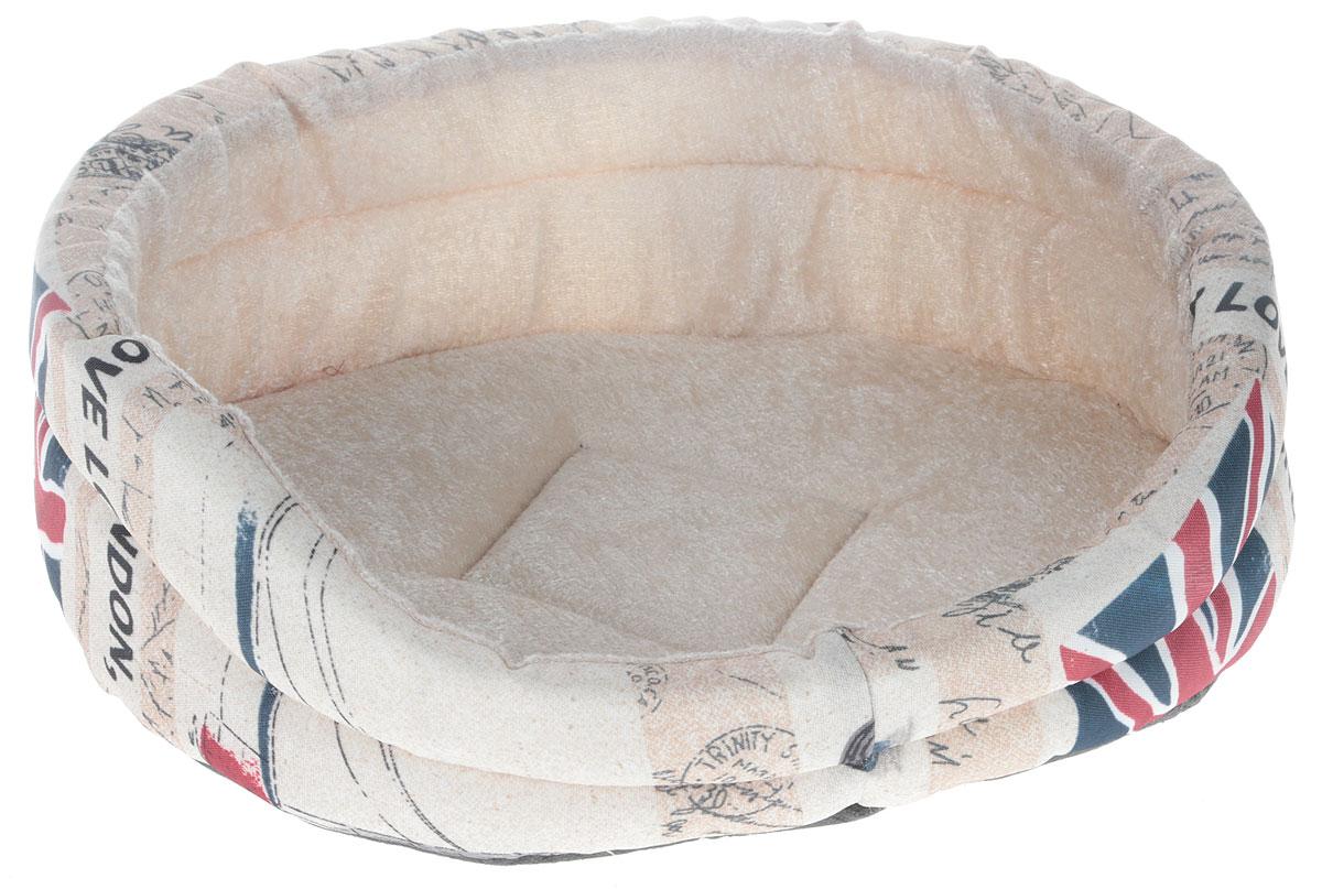 Лежак для животных GLG Малютка. Лондон, 37 х 30 х 11 см9413Мягкий лежак GLG Малютка обязательно понравится вашему питомцу. Он выполнен из высококачественных материалов, которые не теряют своей формы долгое время. Внешний материал дополнен оригинальным принтом в стиле Лондона, внутренняя плюшевая поверхность мягкая и приятная на ощупь. В качестве наполнителя используется поролон, который отлично держит форму лежака. Высокие бортики обеспечат вашему любимцу уют. Мягкий лежак станет излюбленным местом вашего питомца, подарит ему спокойный и комфортный сон, а также убережет вашу мебель от шерсти.