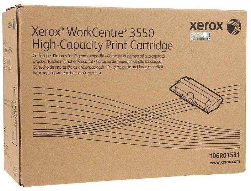 Картридж Xerox 106R01531, черный, для лазерного принтера, оригинал