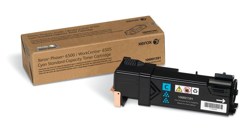 Картридж Xerox 106R01601, голубой, для лазерного принтера, оригинал