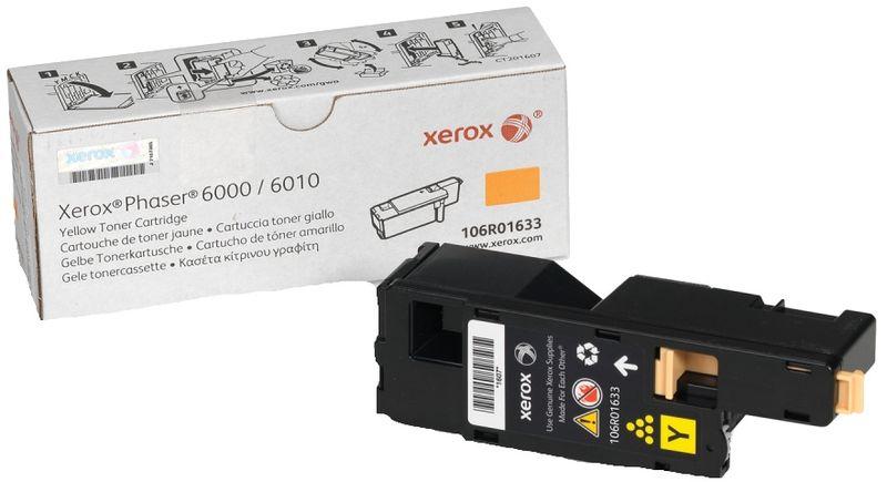 Картридж Xerox 106R01633, желтый, для лазерного принтера, оригинал
