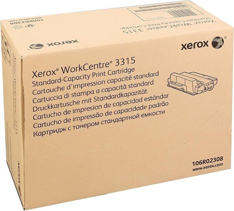 Картридж Xerox 106R02308, черный, для лазерного принтера, оригинал
