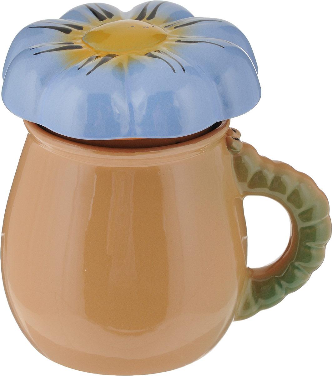 Фото - Чашка Борисовская керамика Цветок, с крышкой и фильтром, 450 мл [супермаркет] jingdong геб scybe фил приблизительно круглая чашка установлена в вертикальном положении стеклянной чашки 290мла 6 z