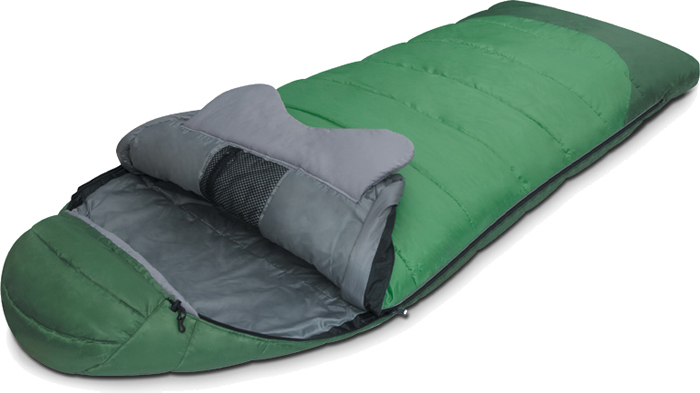 цена на Спальный мешок Alexika Forest, цвет: зеленый, правосторонняя молния. 9230.01011