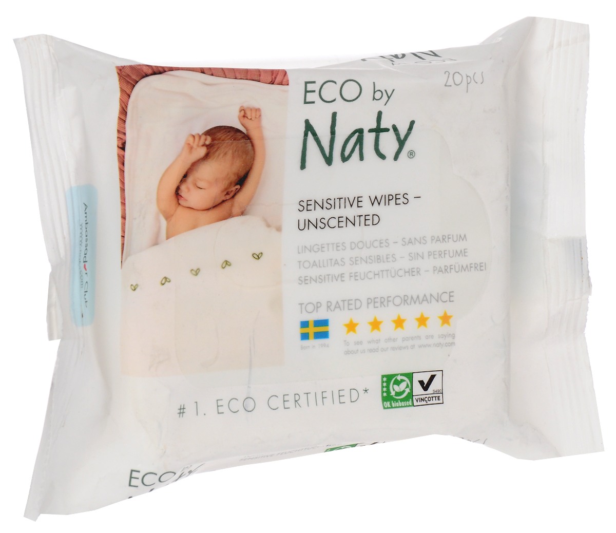 Naty Влажные салфетки детские 20 шт