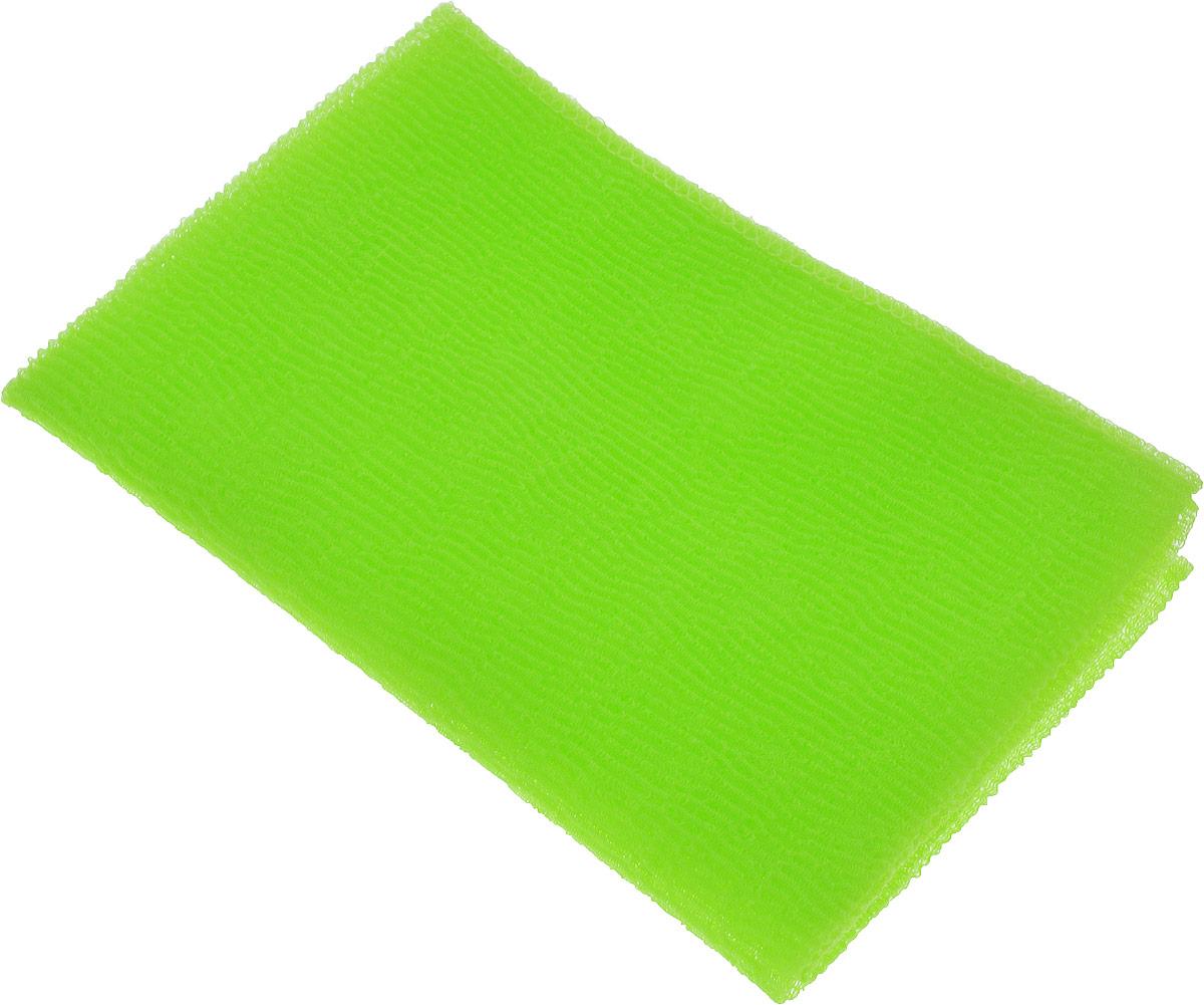 Мочалка-полотенце массажная Eva, цвет: салатовый, 90 х 30 см цена