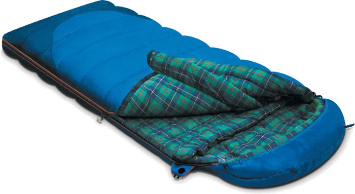 цена на Спальный мешок-одеяло Alexika Tundra Plus, цвет: синий, левосторонняя молния. 9257.01052