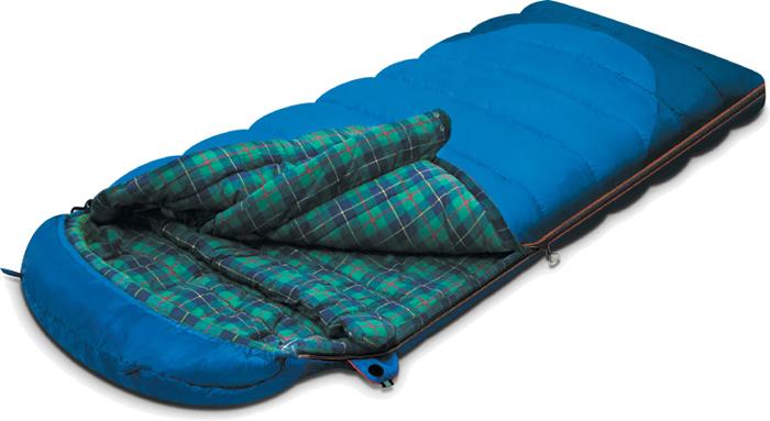 Спальный мешок-одеяло Alexika Tundra Plus, цвет: синий, правосторонняя молния. 9257.01051