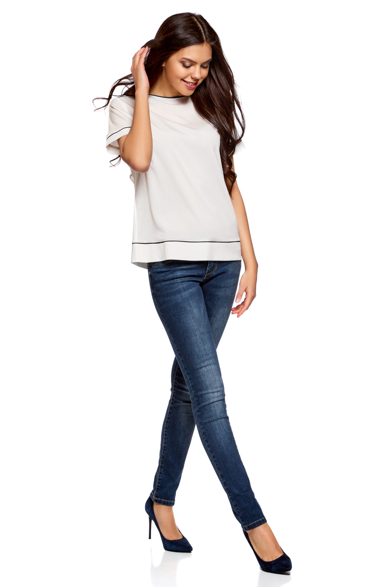 джинсы с блузками картинки