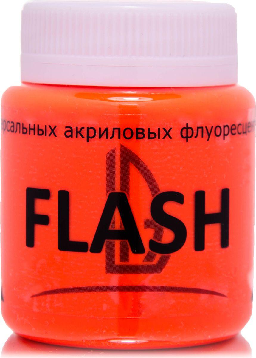 Luxart Краска акриловая LuxFlash цвет оранжевый флуоресцентный 80 мл