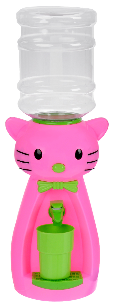 Кулер для воды Vatten Kids Kitty, Pink, со стаканчиком кулер для воды vatten kids mouse green red со стаканчиком