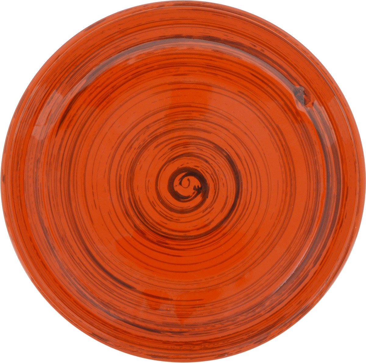 """Миска Борисовская керамика """"Радуга"""", цвет: оранжевый, коричневый, диаметр 18 см"""
