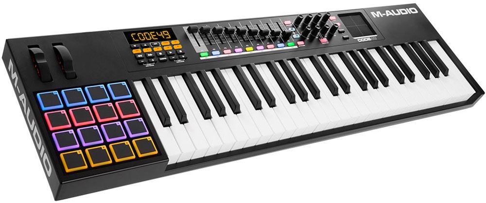 M-Audio Code 49, Black MIDI-клавиатура midi контроллер novation launchpad mk2 компактный для ableton live 64 квадратных пэдов цвет черный